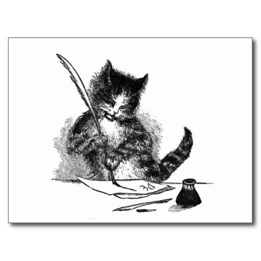 Cat clipart vintage.  best cats clip