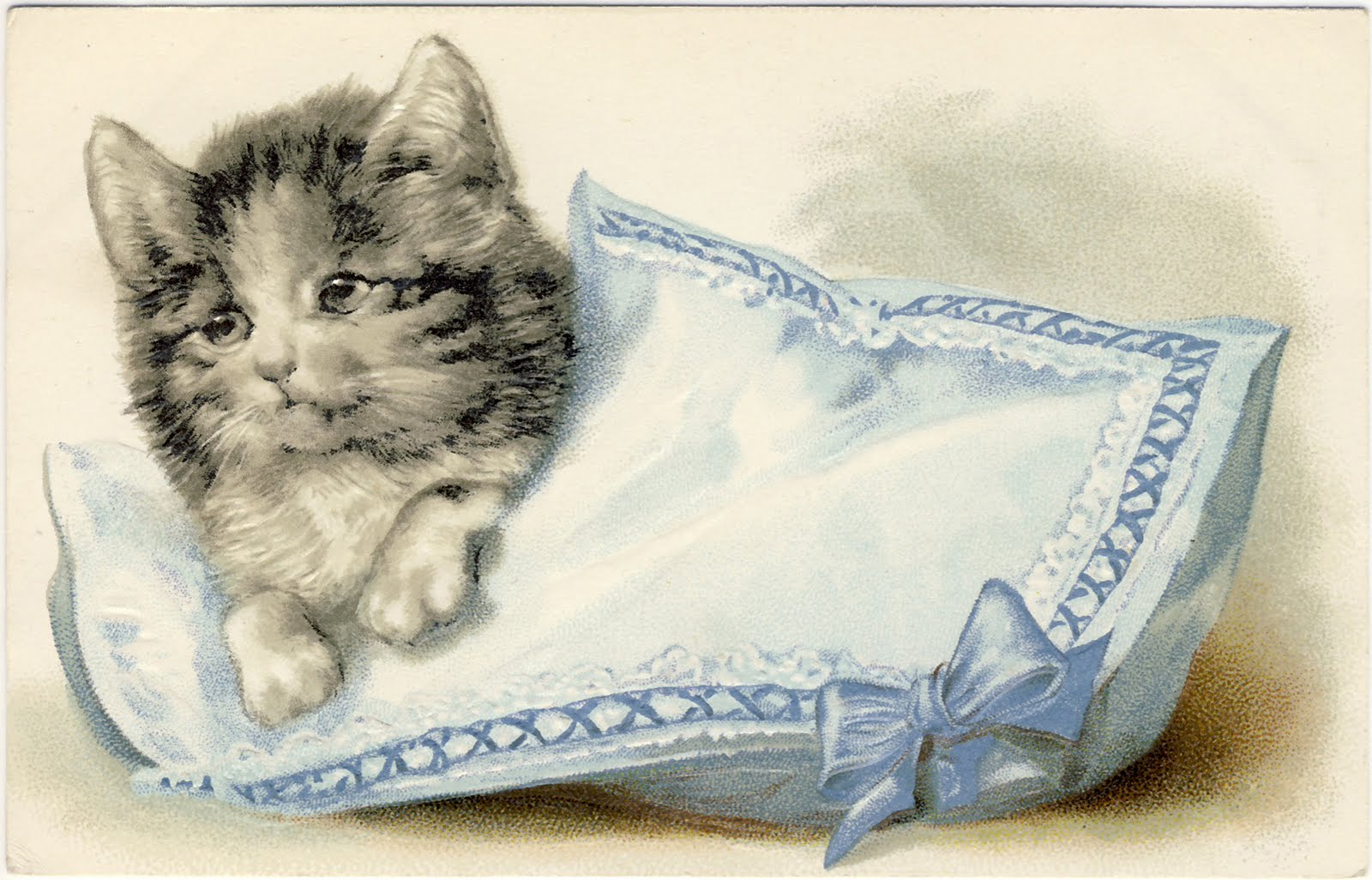 Cat clipart vintage. Clip art adorable cats