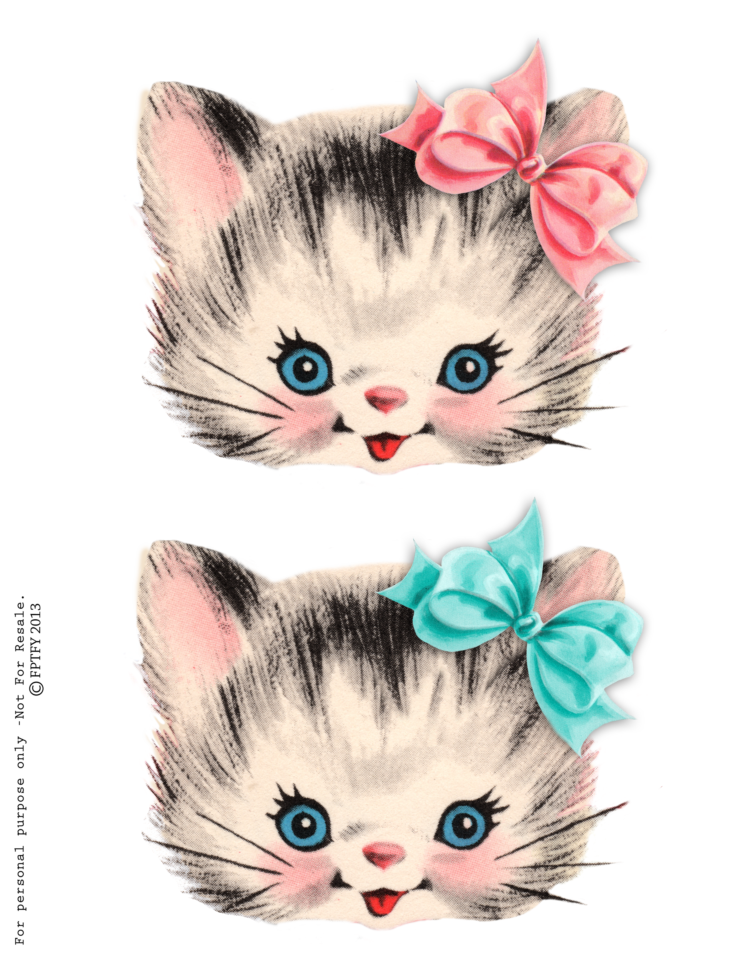 Cat clipart vintage. Free clip art kitty