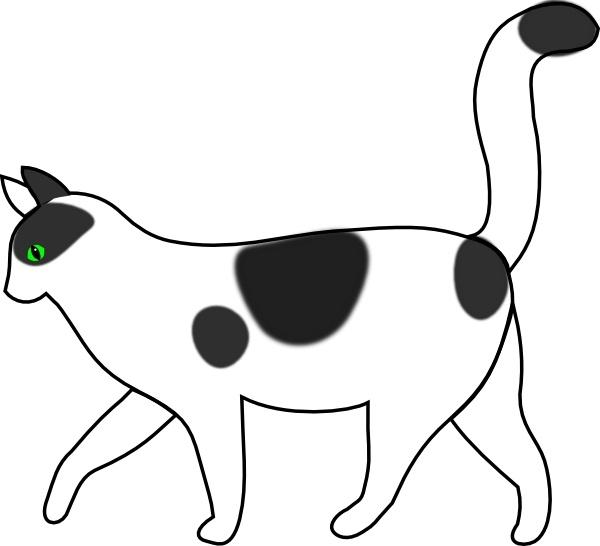 White cat clip art. Cats clipart walking