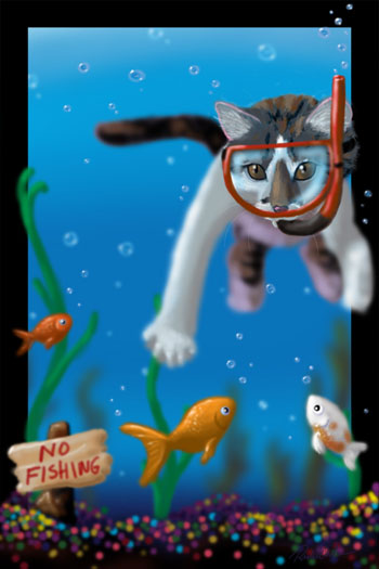 Cat clipart water. Free related sports download