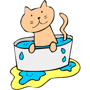 Cat clipart water. In cliparts of free