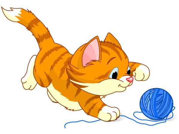 Kittens clipart playful. Kitten and yarn yarns
