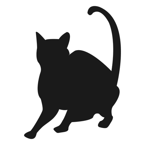 Silhouette transparent svg. Cat vector png
