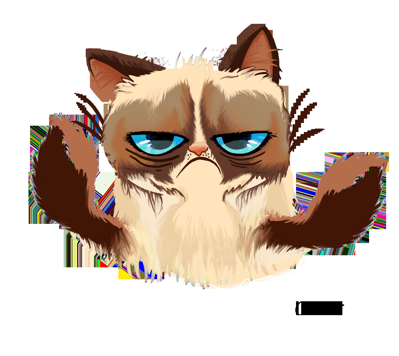 Cat vector png. Grumpy horoscopes vitas gr