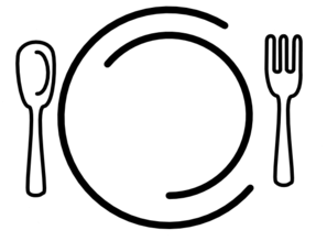 Catering clipart black and white. Knife fork md valley