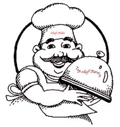 Free chef logo clip. Catering clipart black and white