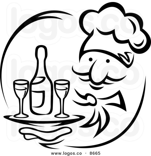 Catering clipart black and white. Caterer free download best