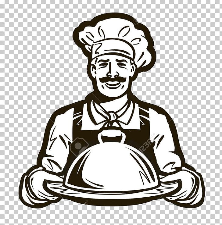 Cafe logo png art. Catering clipart black and white