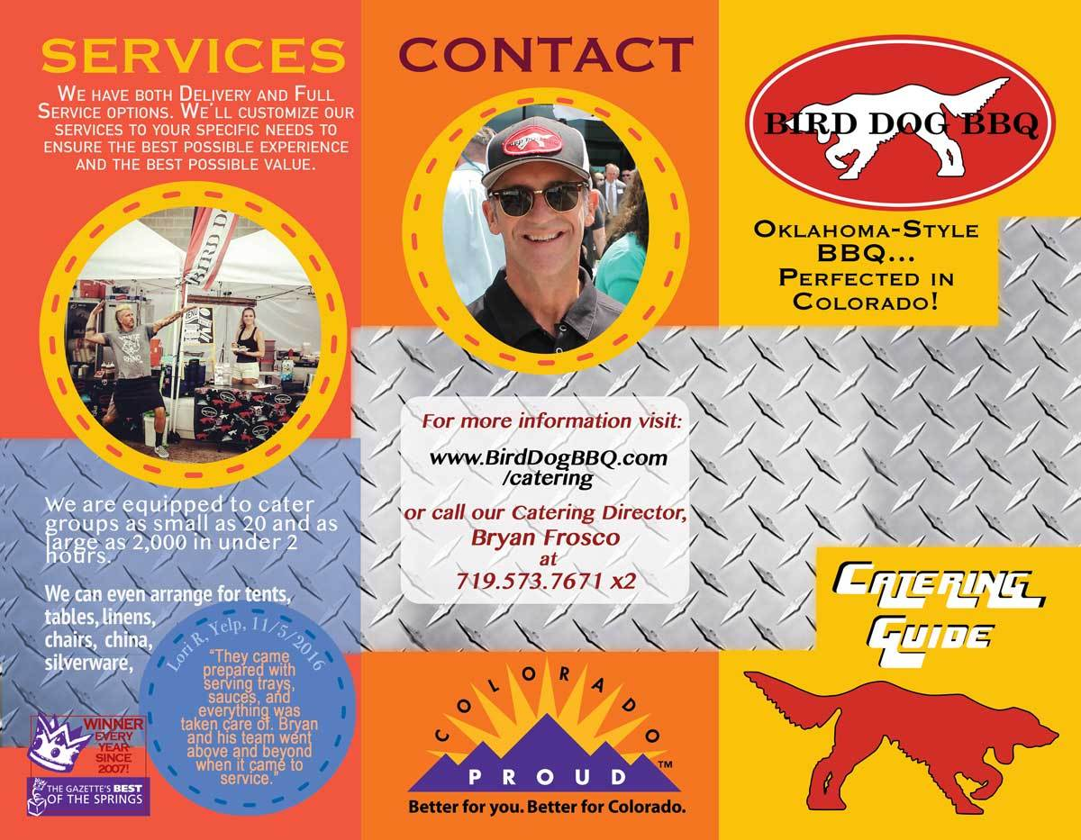 Services bird dog bbq. Catering clipart catered lunch