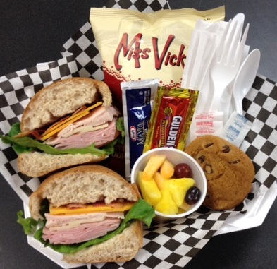 Catering clipart catered lunch. Corporate boxed lunches aspen