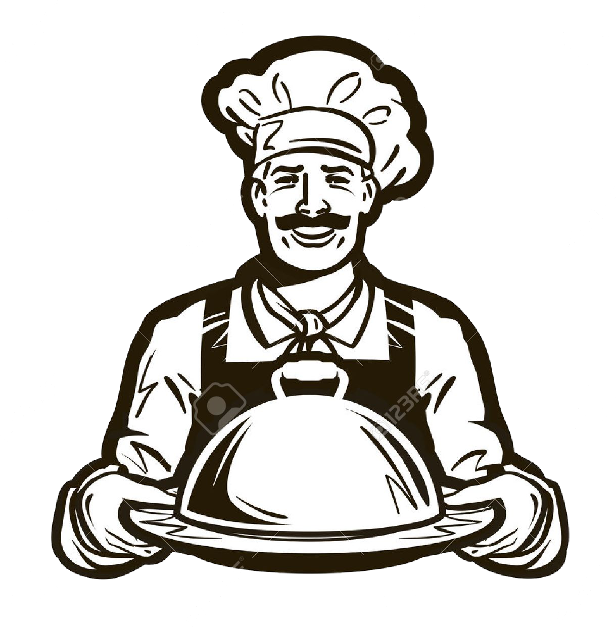Catering clipart catering logo. Cafe clip art vector