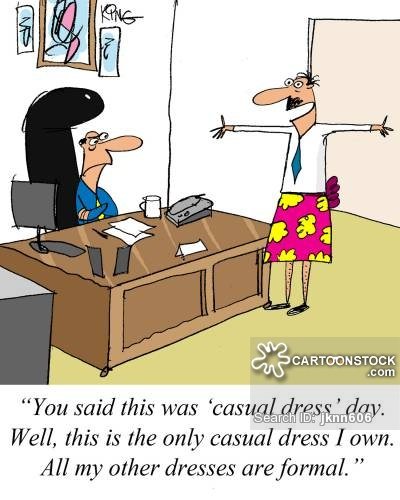 Formal cartoons and comics. Catering clipart clothes