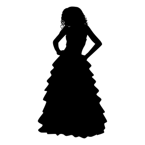 Formal silhouette at getdrawings. Catering clipart clothes