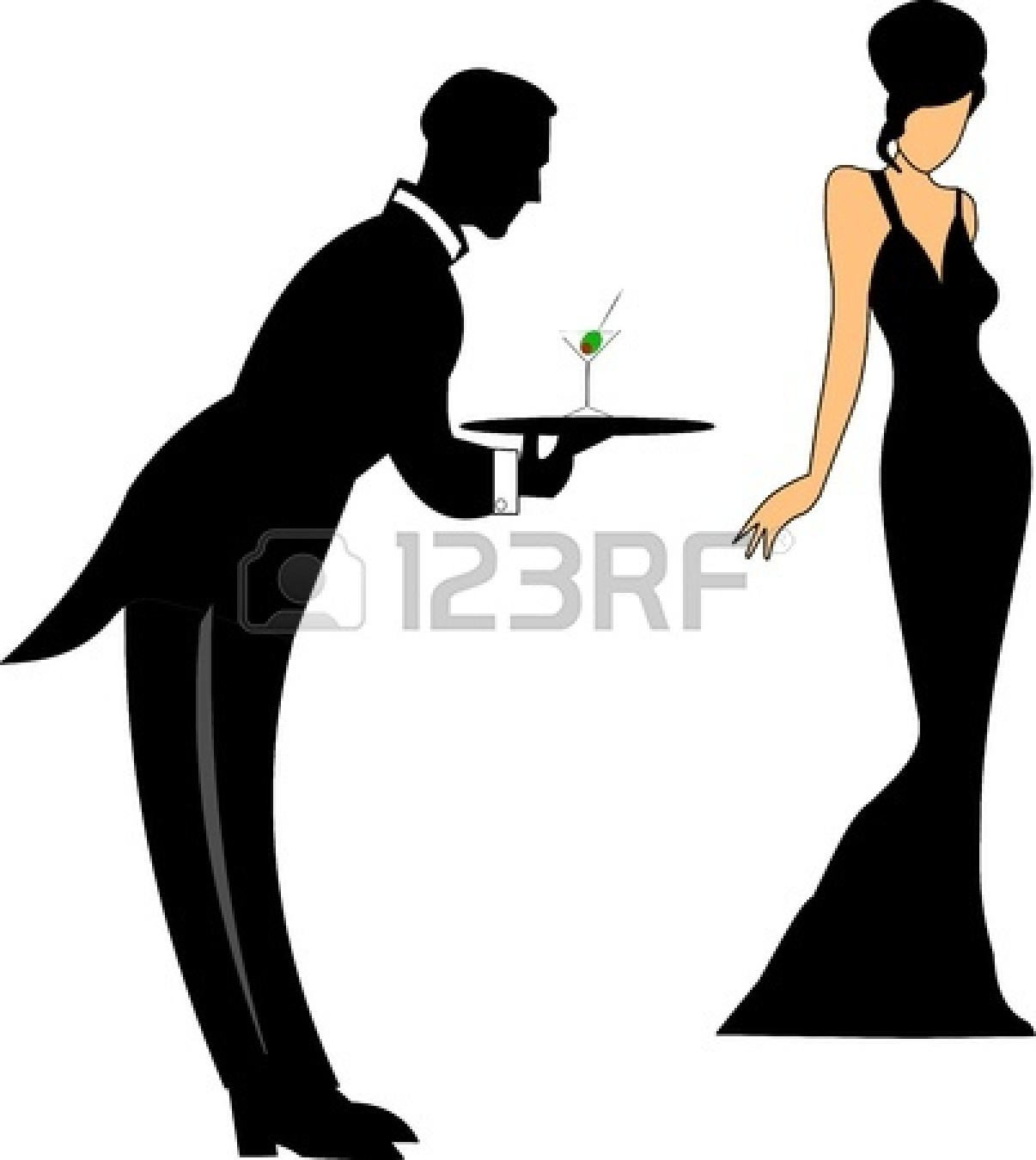 Catering clipart clothes. Formal silhouette at getdrawings