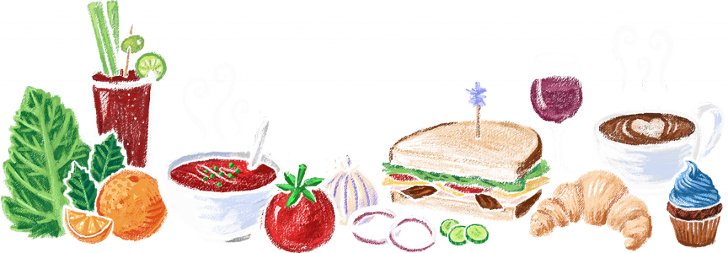 Elephants delicatessen catering portland. Meal clipart airplane food