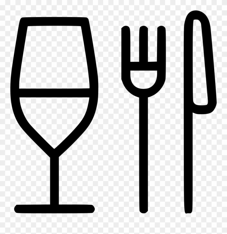 Fork elegant restaurant food. Restaurants clipart icon