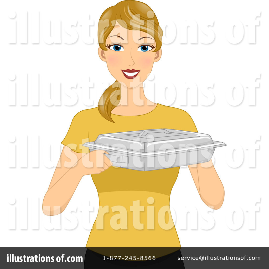 Illustration by bnp design. Catering clipart female