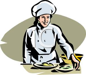 Women clipartuse chef serving. Catering clipart female