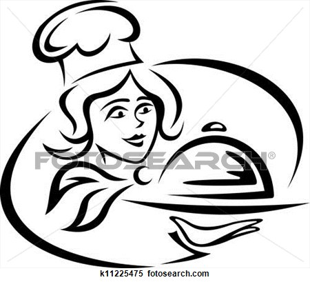 Women . Catering clipart female
