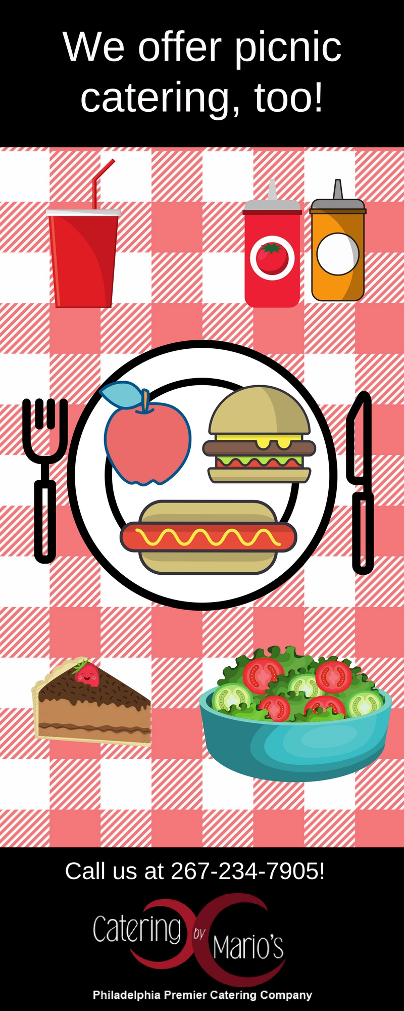 Catering clipart finger food. Infographic picnic for summer