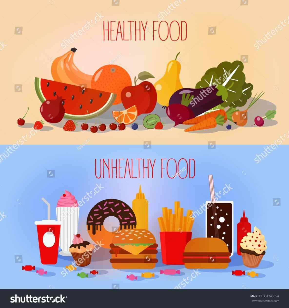 Catering clipart healthy eating. Food vs junk ogahealth