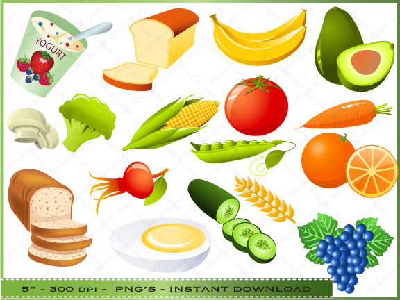 Free foods for kids. Catering clipart healthy eating