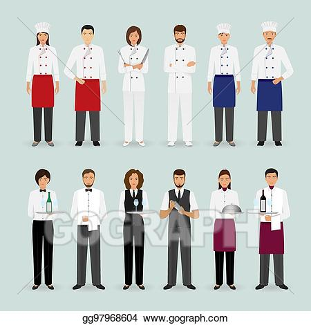 Vector stock restaurant male. Catering clipart hotel cook