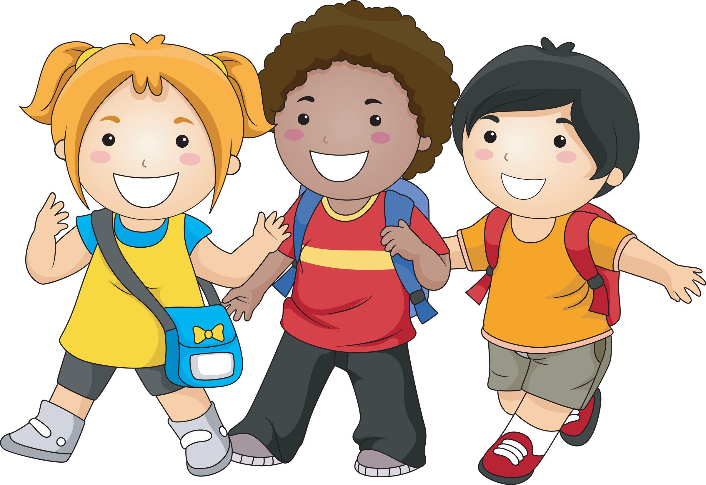 Kids walking walk is. Clipart children