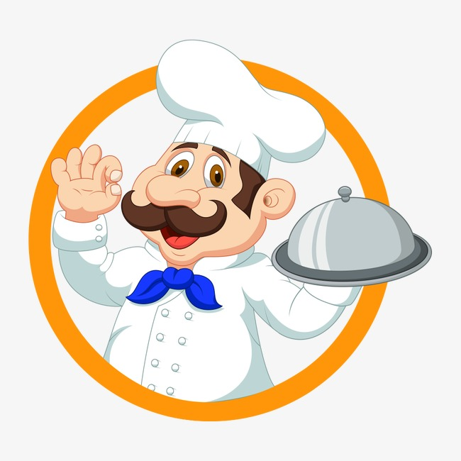Catering clipart logo. Chef character png image