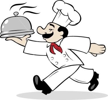 Needlepoint chef patterns google. Catering clipart male