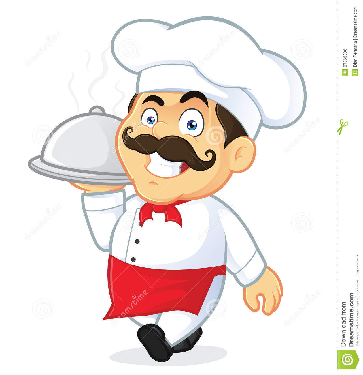 Chef . Catering clipart male