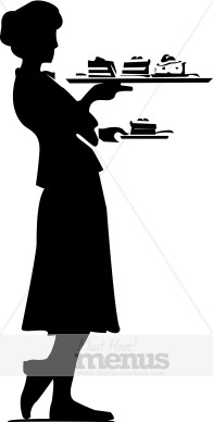 Hostess. Catering clipart silhouette