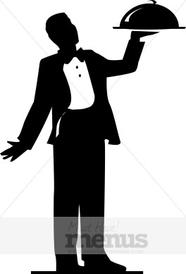 Catering clipart silhouette. Formal food service