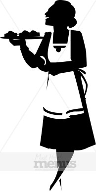 Waitress . Catering clipart silhouette