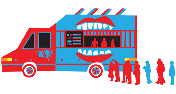 Catering clipart starvation. Roaming hunger food truck