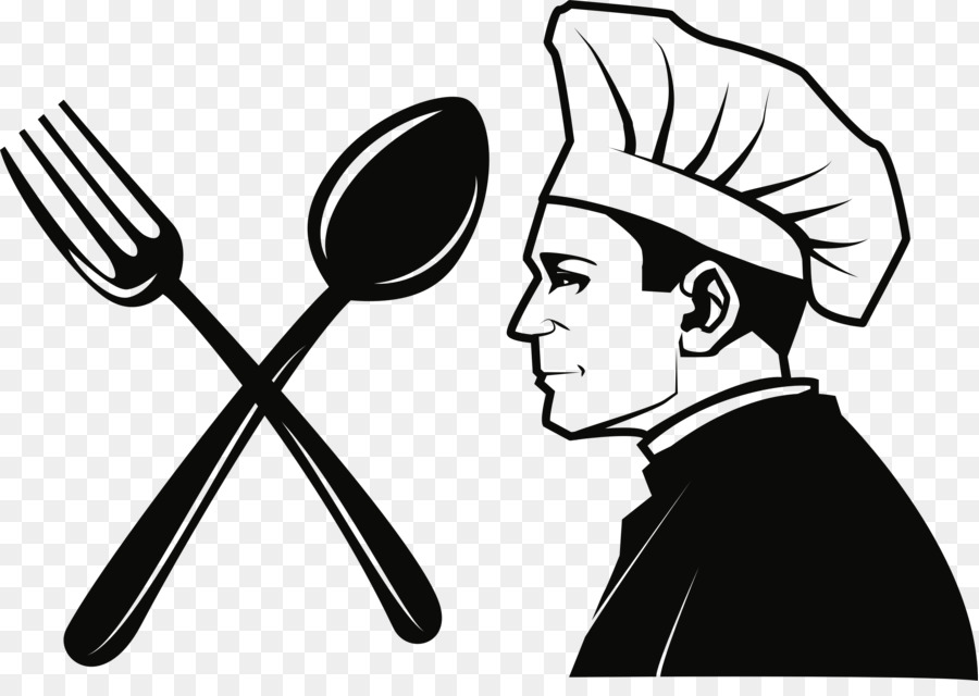 Public domain chef fork. Catering clipart transparent
