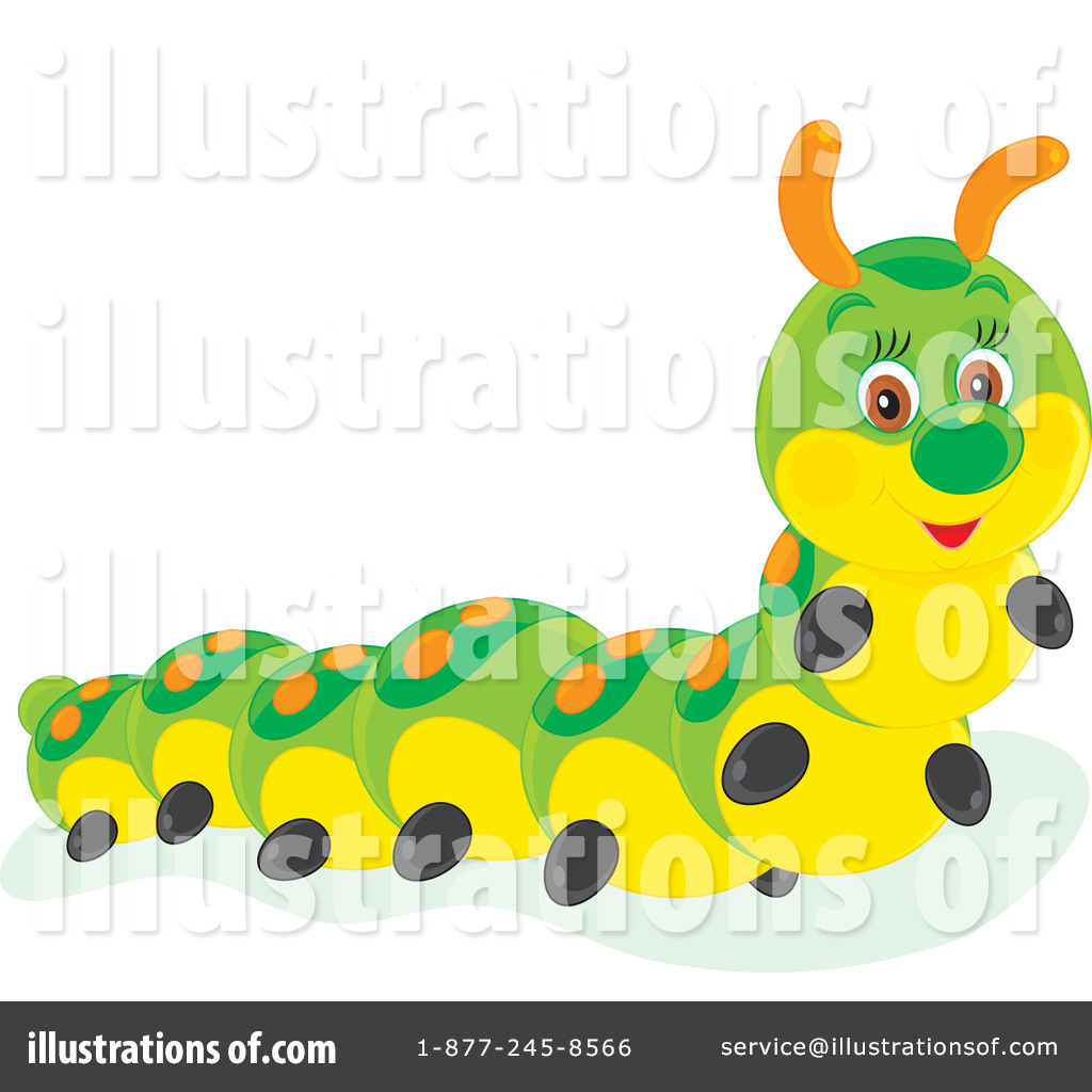 Illustration by alex bannykh. Caterpillar clipart cartoon