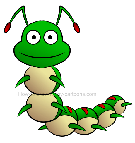 Caterpillar clipart character. How to create a
