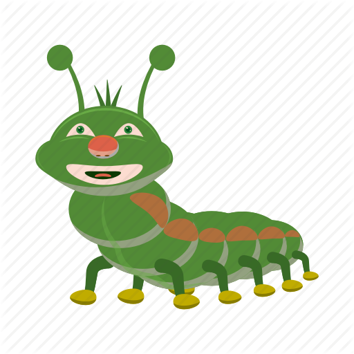 Caterpillar clipart character. Iconfinder garden cartoon by