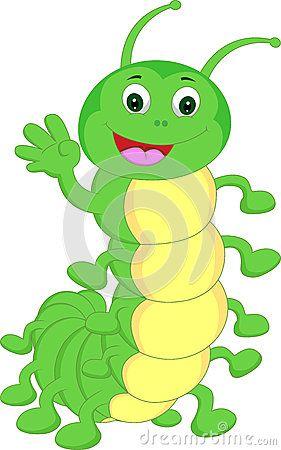Cute waving cartoon toys. Caterpillar clipart character
