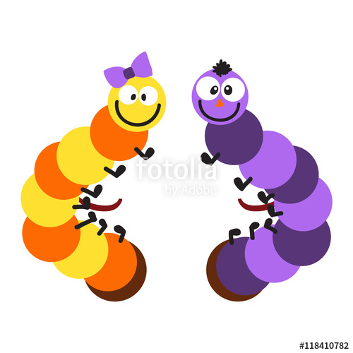 Cute hand drawn crawling. Caterpillar clipart character
