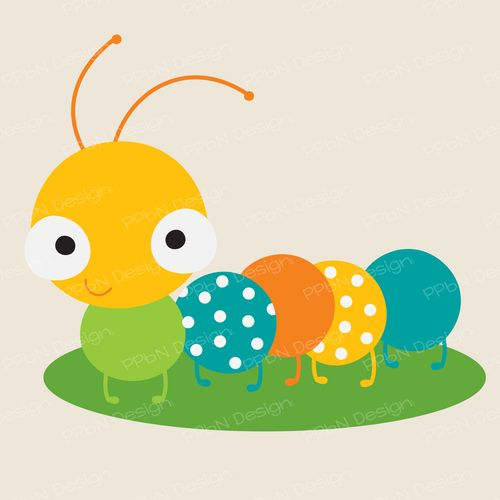 Caterpillar clipart cute. Svg file and image