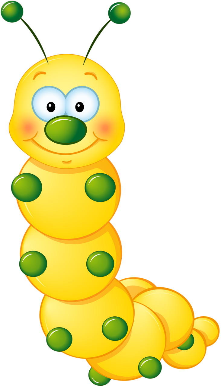 Yellow cute caterpillar rovarok. Woodland clipart kid