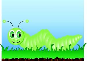 Blue Caterpillar Cartoon — Stock Vector © hermandesign2015@gmail.com  #194788984