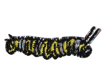 Caterpillar clipart fuzzy. Etsy id yellow patch