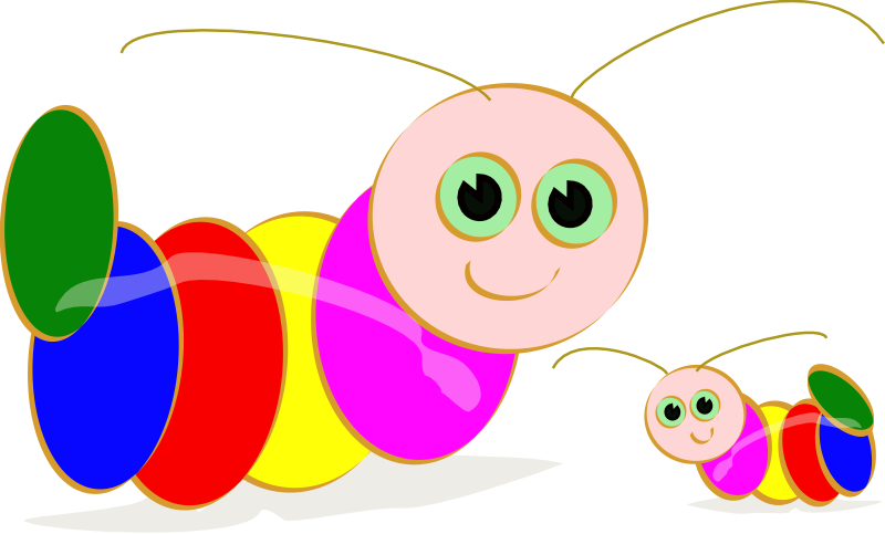 Caterpillar free to use. Worm clipart border