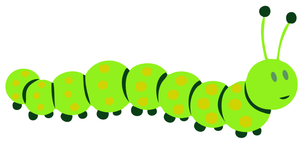 The very hungry caterpillar. Worm clipart green thing