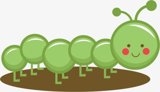 Caterpillar clipart insect. Cartoon reptile millipede png