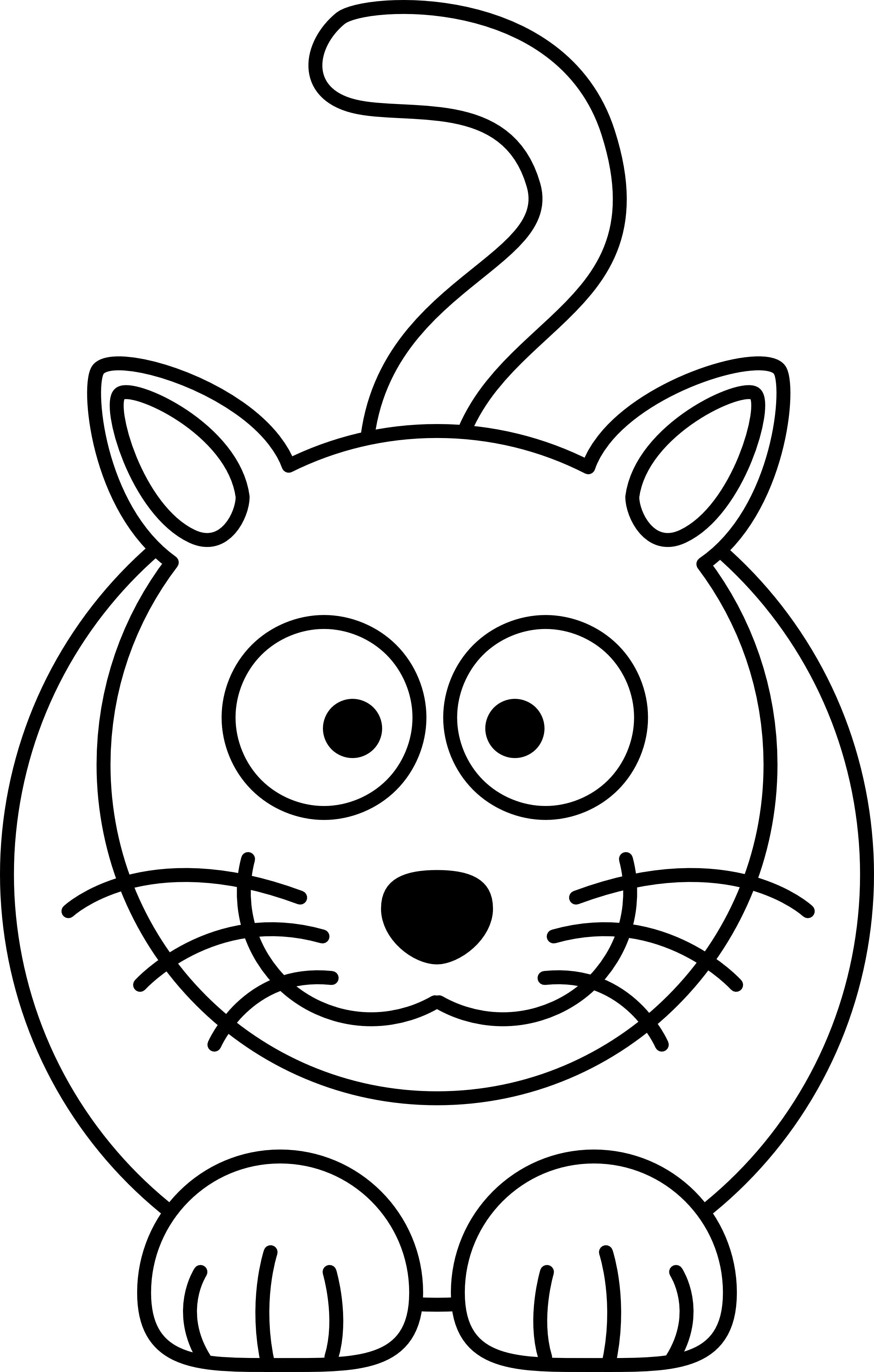 Face line drawing at. Clipart cat easy